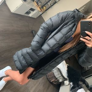 North face down puffer parka size small